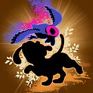 Super Smash Bros. Duck Hunt Dog Silhouette by jewlecho