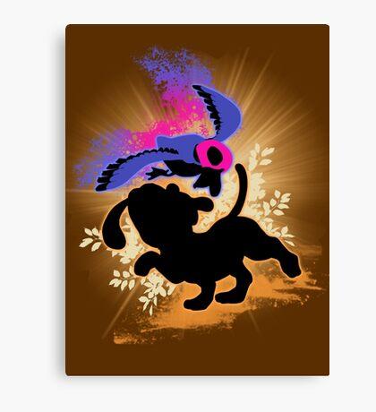 Super Smash Bros. Duck Hunt Dog Silhouette Canvas Print