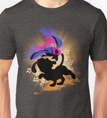 Super Smash Bros. Duck Hunt Dog Silhouette Unisex T-Shirt
