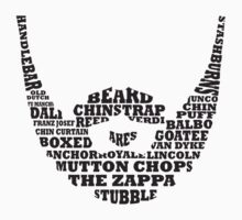 Beard Typography Kids Clothes