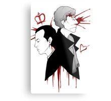 BBC Sherlock - The Reichenbach Fall Metal Print