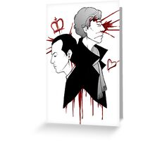 BBC Sherlock - The Reichenbach Fall Greeting Card