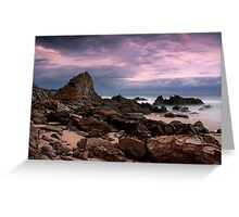 Moody Scene at Shipwreck Creek Greeting Card