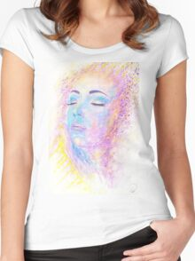 Di Sole e D'azzuro (Of Sun and Blue) Women's Fitted Scoop T-Shirt