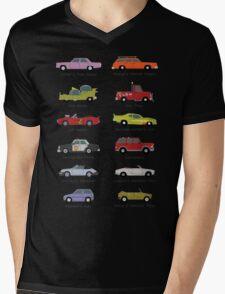 Simpsons Cars Mens V-Neck T-Shirt