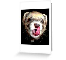 Posterized Ferret Greeting Card