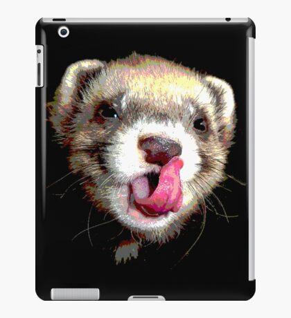 Posterized Ferret iPad Case/Skin