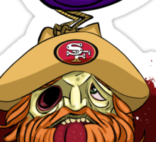 49ers Nevermore Sticker