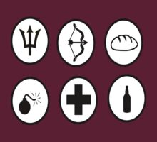 Hunger Games Character Icons by emmazeballs