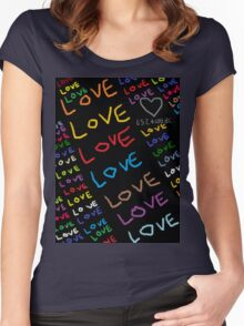 I Am In Love Women's Fitted Scoop T-Shirt