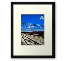 train line Framed Print