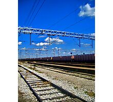 train line Photographic Print
