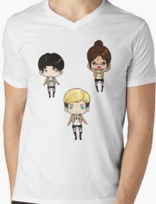 Levi, Erwin, Hanji Mens V-Neck T-Shirt