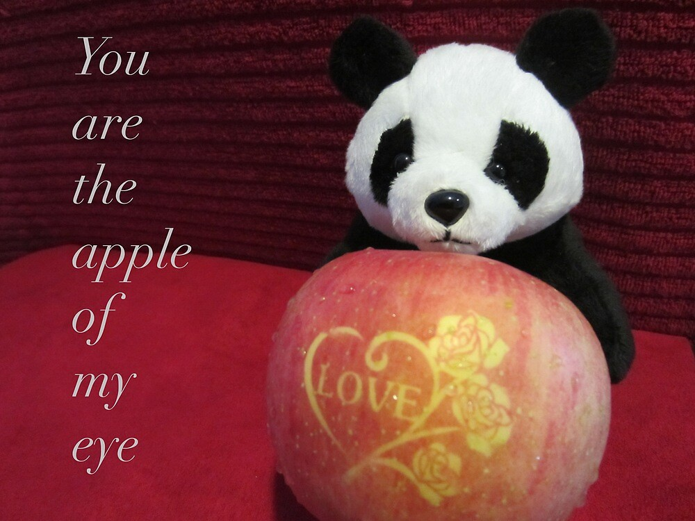 You are the apple of my eye by v-something