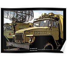 Art Work 116 Ural Truck Poster