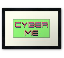 Cyber Me Framed Print