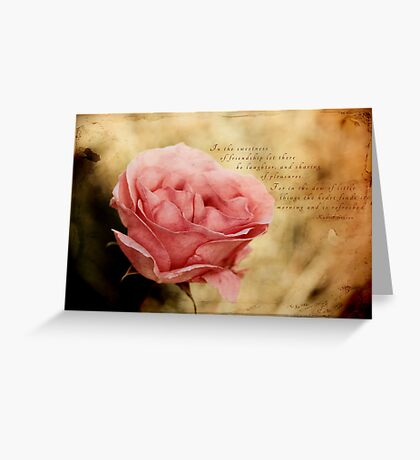 In the dew of little things Greeting Card