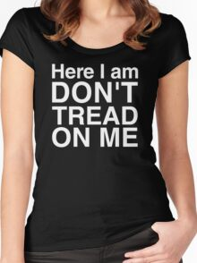 Here I am, don't tread on me! Women's Fitted Scoop T-Shirt