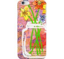 Flower Fields Mason Jar iPhone Case/Skin