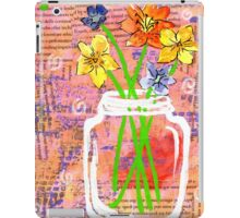 Flower Fields Mason Jar iPad Case/Skin