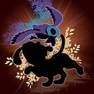 Super Smash Bros. Black Duck Hunt Silhouette by jewlecho