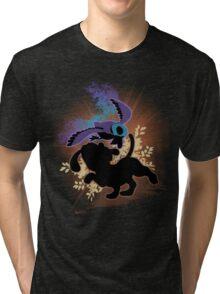 Super Smash Bros. Black Duck Hunt Silhouette Tri-blend T-Shirt