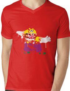 Wario Paint Mens V-Neck T-Shirt