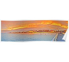 Henley beach jetty- Panorama Poster