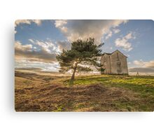 House on a Hill Canvas Print