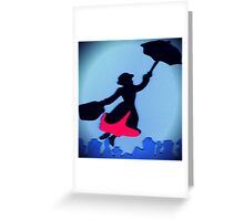 Mary Poppins In Flight Greeting Card