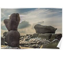 Wool Packs, Rock Formation on Kinder Scout, Derbyshire Poster