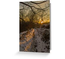 Snowy Lane Greeting Card