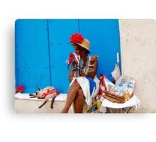 Cuban Cigar Lady Canvas Print