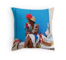 Cuban Cigar Lady Throw Pillow