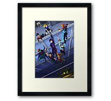 Save the Heroes Framed Print
