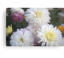 Flower and Flower Canvas Print