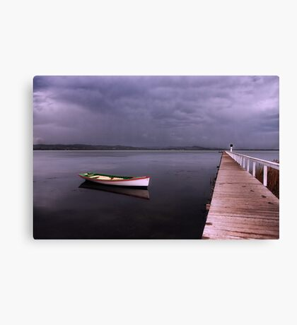 As the rain clouds descend Canvas Print