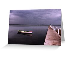 As the rain clouds descend Greeting Card