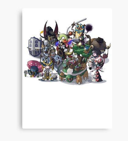 Final Fantasy Pokemon Collection Group Set 1 Canvas Print