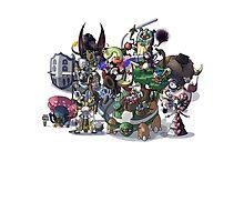 Final Fantasy Pokemon Collection Group Set 1 Photographic Print