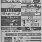 Fight Club x Chess Club (Greyscale) by Badga