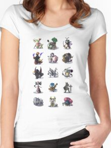 Final Fantasy Pokemon Collection Set 1 Women's Fitted Scoop T-Shirt