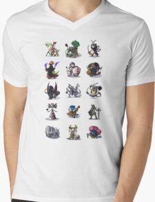 Final Fantasy Pokemon Collection Set 1 Mens V-Neck T-Shirt