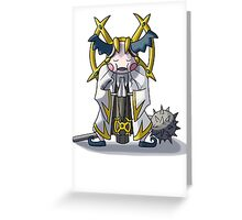 Final Fantasy- Mr Mime Cleric Greeting Card