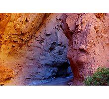 Multicolored slot canyon, Utah Photographic Print