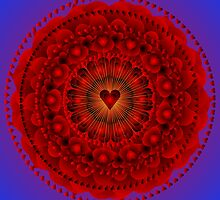Valentine Mandala ....Just for the Love of it by Sarah Niebank