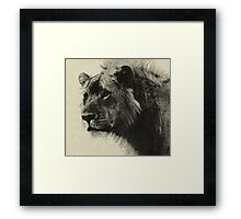 Aslan the king  Hand Drawing Framed Print
