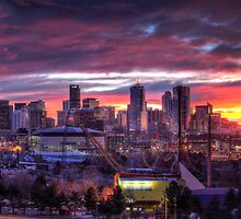 Denver Skyline Sunrise by greg1701