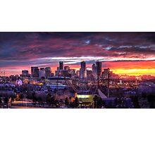 Denver Skyline Sunrise Photographic Print