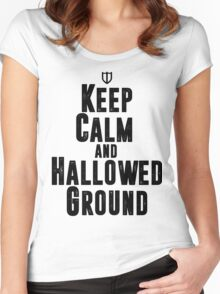 Keep Calm and Hallowed Ground Women's Fitted Scoop T-Shirt